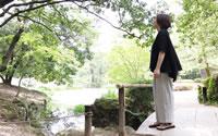 【ツムギ】保多織タックパンツ(中厚)(女性用)