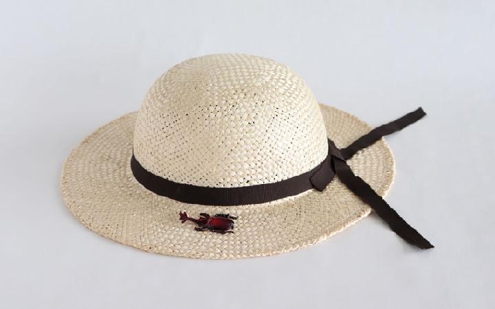 【(有) 丸高製帽所】麦わら帽子 子供用(カブトムシ)